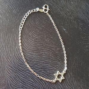Sterling Silver Star of David Dainty Bracelet